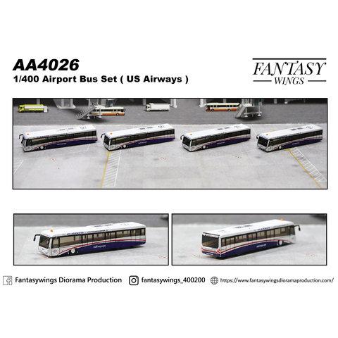 Airport Passenger Bus US Airways 1:400 (4 in each set) +preorder+