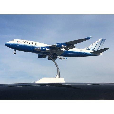 B747-400 United Blue Tulip livery N128UA 1:200 flaps +preorder+