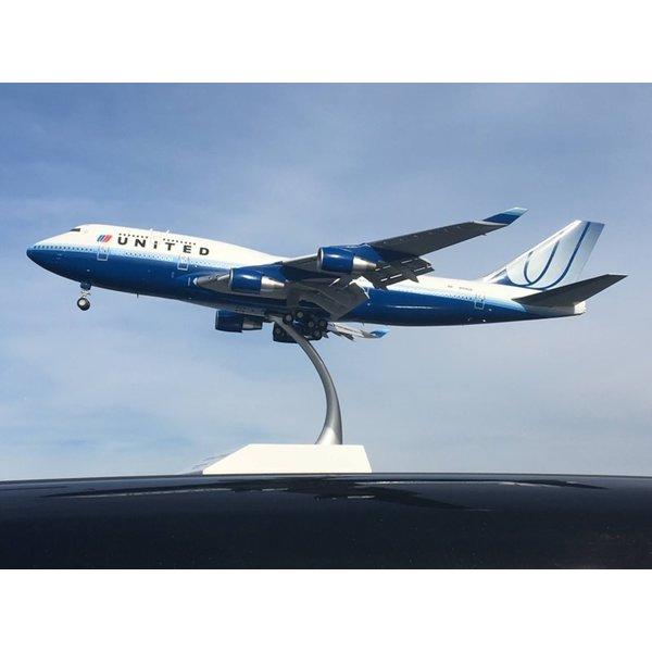 JC Wings B747-400 United Blue Tulip livery N128UA 1:200 flaps +preorder+