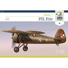 Arma Hobby PZL P.11c with basic etch parts 1:48