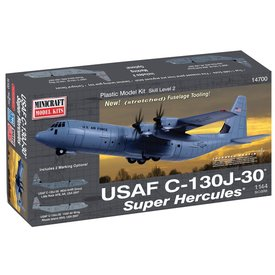Minicraft Model Kits C130J-30 Super Hercules USAF 1:144