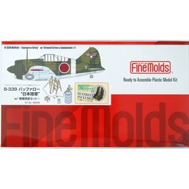 """FineMolds B339 Buffalo """"Japanese Army"""" with Ground Crew & Equipment 1:48"""