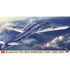 "Hasegawa Ki67 Type 4 Heavy Bomber 'HIRYU' (PEGGY) ""GREEN CROSS"" 1:72"