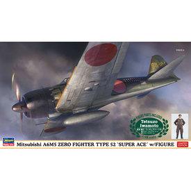 Hasegawa A6M5 Zero Type 52 with Ace Pilot Tetsuzo Iwamoto Figure 1:48