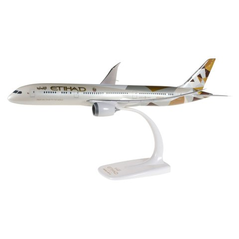 B787-9 Dreamliner Etihad 2014 livery A6-BLA 1:200 with stand