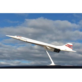 PPC Models Concorde British Airways Union Jack livery G-BOAC 1:250 with stand