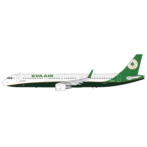 JC Wings A321S EVA Air B-16221 1:200 Sharklets with Stand +Preorder+