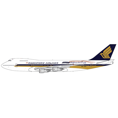 B747-200 Singapore Airlines California 9V-SIA 1:200 with stand +preorder+