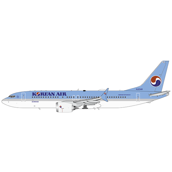 JC Wings B737-8 MAX Korean Air HL834 1:200 with stand +preorder+