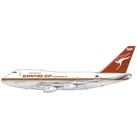 B747SP QANTAS SP gold cheatline VH-EAA 1:400 +preorder+