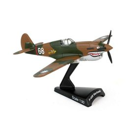 Postage Stamp Models P40 Warhawk USAAF Flying Tigers AVG 1:90 with stand