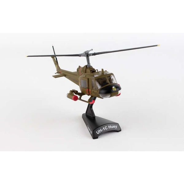 Postage Stamp Models UH1 Huey Gunship US Army 1st Air Cavalry Division 1:87 with stand