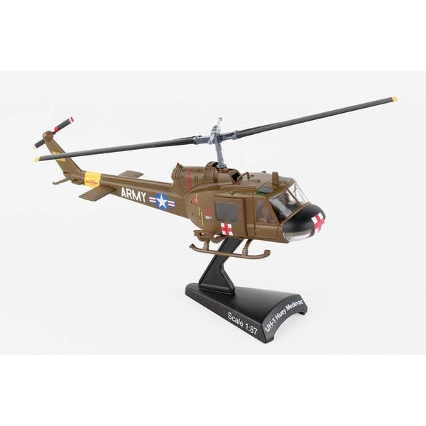 Postage Stamp Models UH1 Huey US Army MEDEVAC 1:87 with stand