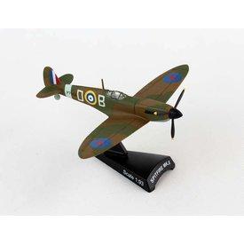 Postage Stamp Spitfire II Manxman Douglas Bader BOB D-B 1:93 with stand