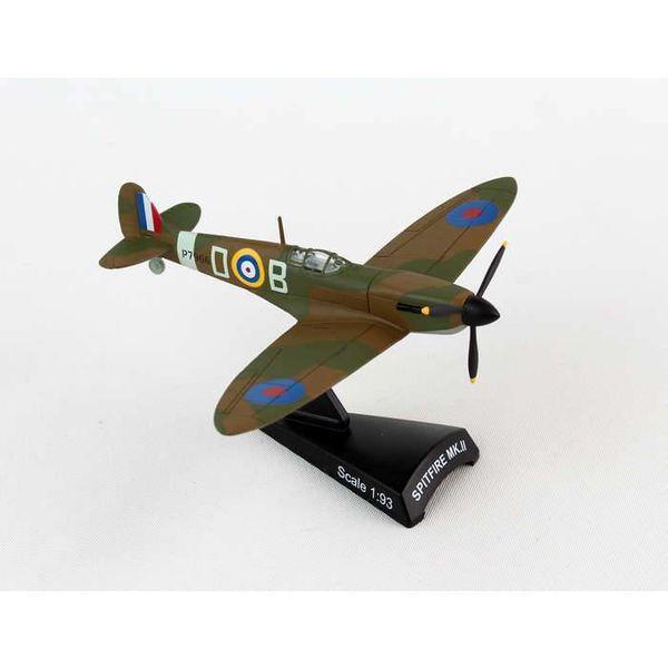 Postage Stamp Models Spitfire II Manxman Douglas Bader BOB D-B 1:93 with stand