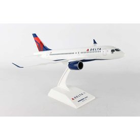 SkyMarks A220-100 CS100 Delta 2007 Livery 1:100 with stand