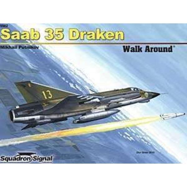 Squadron Saab 35 Draken: Walk Around #62 Softcover