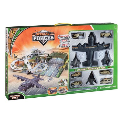 Special Forces Base Diecast Toy Playset 4 Planes