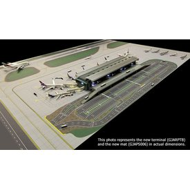 Gemini Jets Airport Terminal Airside / Landside 1:400 with lighting (does not include mat)