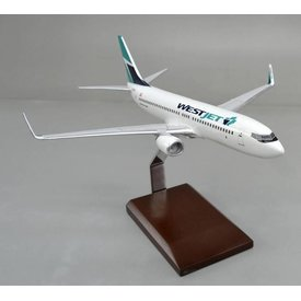 B737-800W WestJet 2016 livery (maple leaf) 1:100 with stand (no gear)