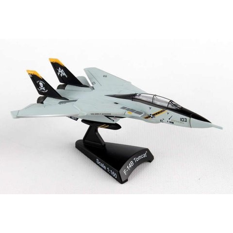 F14B Tomcat VF-103 Jolly Rogers CAG AA-103 1:160 with stand