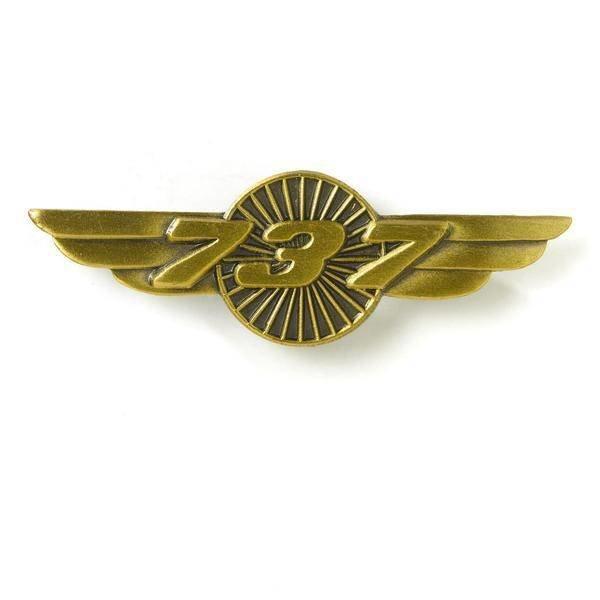 "Boeing Store Pin 737 Wings Bronze 1 1/2"""