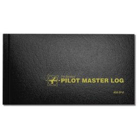 ASA - Aviation Supplies & Academics Logbook Pilot Master Black