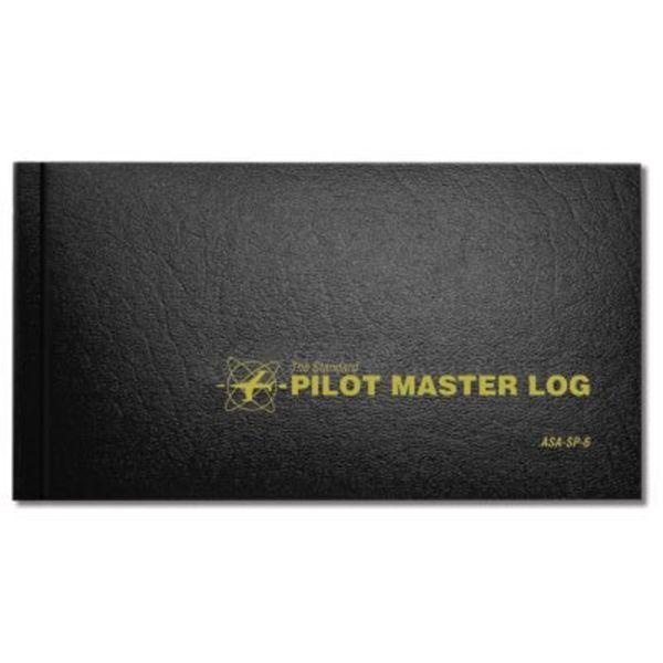 ASA - Aviation Supplies & Academics Logbook Pilot Master Black hardcover