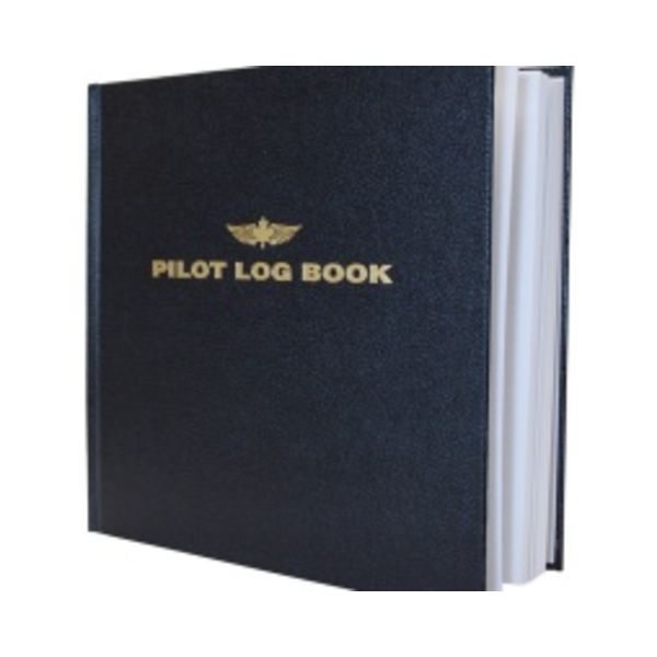 "Pilot Logbook Large Black hardcover 8 3/4"" x 8 1/4"""