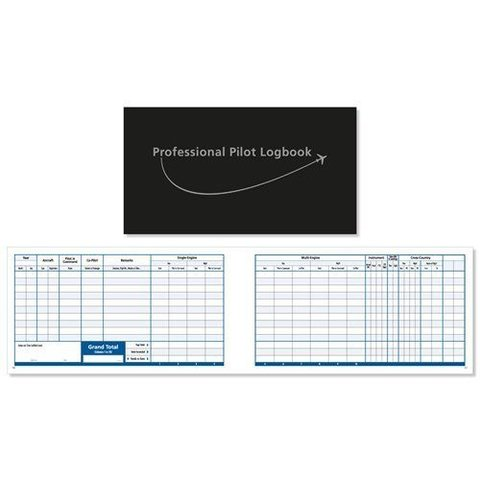 Logbook Large Professional hardcover black VIP