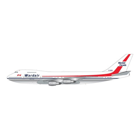 B747-200 Wardair Canada C-GXRD H.A. Doc Oaks 1:200 with stand