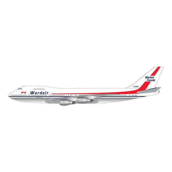 Gemini Jets B747-200 Wardair Canada C-GXRD H.A. Doc Oaks 1:200 with stand