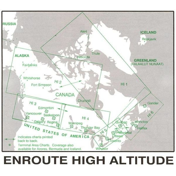 Nav Canada High Altitude IFR Chart May 21 2020