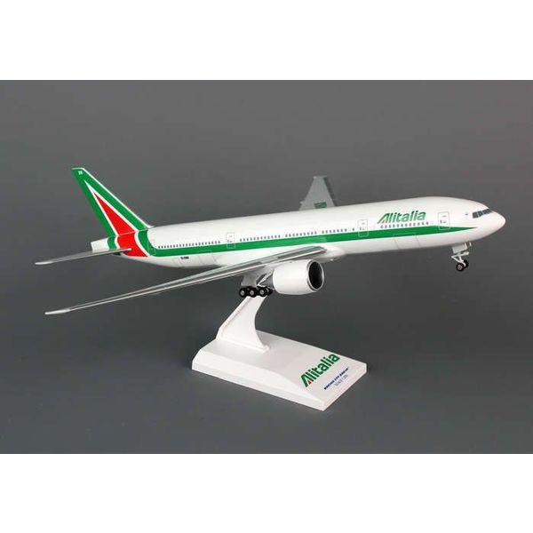 SkyMarks B777-200 Alitalia EI-DBK 1:200 With Gear+stand