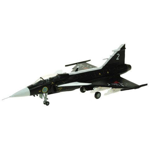 JAS38 Gripen Swedish Air Force Museum SAAB Prototype Black 2 1:72 with stand