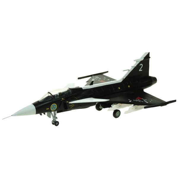 AV72 JAS38 Gripen Swedish Air Force Museum SAAB Prototype Black 2 1:72 with stand
