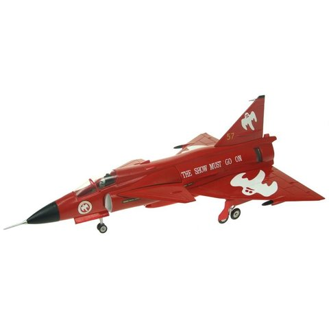 JA37 Viggen Swedish Air Force The Show Must Go On Ghost 1:72 with stand