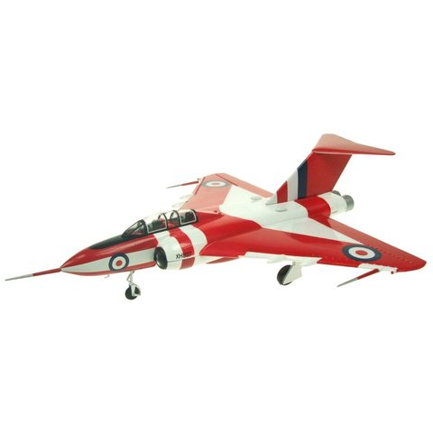 Javelin FAW9 Royal Air Force XH897 preserved Duxford Red/White 1:72 with stand