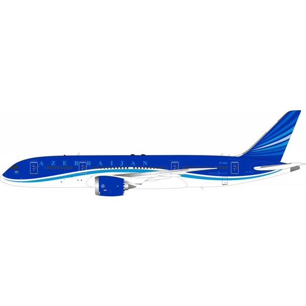 InFlight B787-8 Dreamliner Azerbaijan Airlines AZAH AHY VP-BBS with stand 1:200