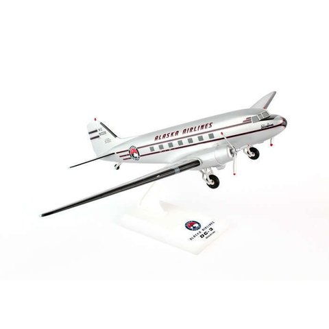 DC3 Alaska Airlines 1:80 with gear + stand