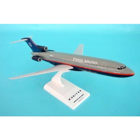 B727-200 United 1992 grey livery 1:150 with stand (no gear)