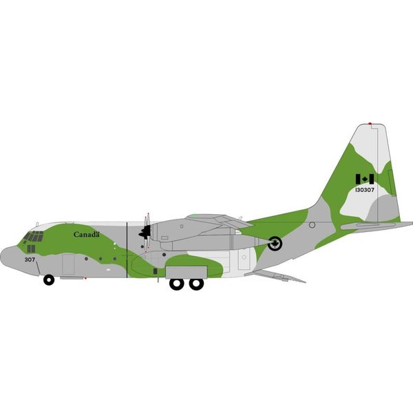 InFlight CC130E Hercules RCAF 130307 green/grey camouflage 1:200 With Stand