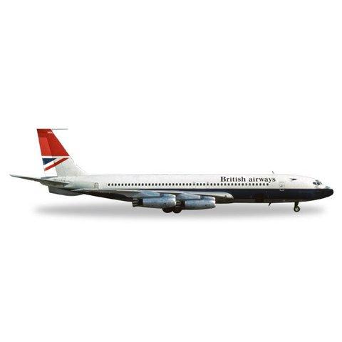 Herpa 707-400 British Airways red tail G-ARRA 1:200 Diecast
