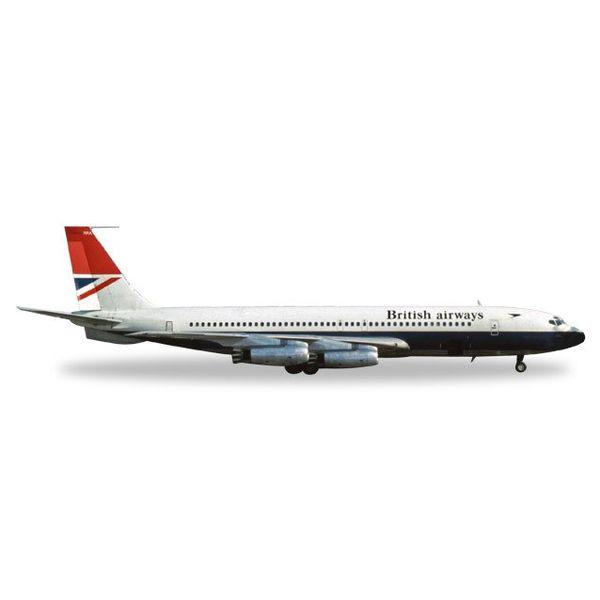Herpa Herpa 707-400 British Airways red tail G-ARRA 1:200 Diecast
