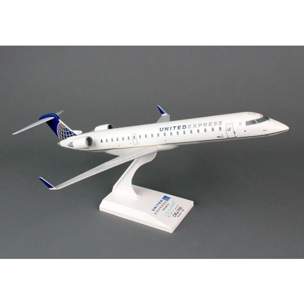 SkyMarks CRJ700 United Express Gojet 1:100 with stand