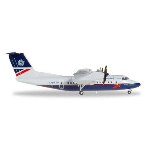 dash7 British Airways Express Landor Livery 1:200 with stand