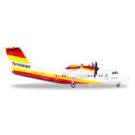 Herpa dash7 Tyrolean OE-LLS final livery 1:200 with stand
