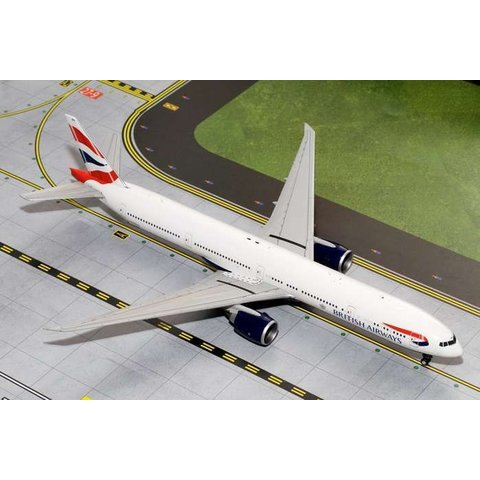 B777-300ER British Airways Union Jack livery 1:200 with stand,