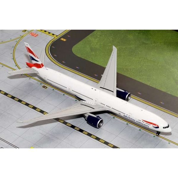 Gemini Jets B777-300ER British Airways Union Jack livery 1:200 with stand,