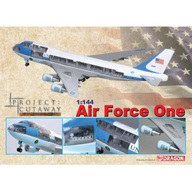 Dragon VC25/B747-200 USAF AIR FORCE ONE CUTAWAY 1:144 W/STAND